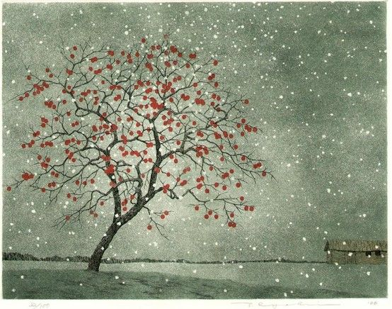 """""""Persimmon in Snow"""" by Ryohei Tanaka, 2006"""
