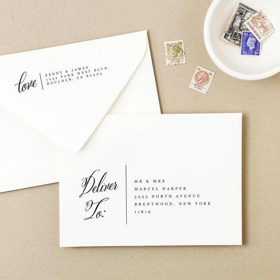 Printable Wedding Envelope Template Instant By Swellandgrand