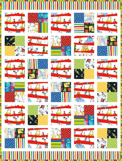 Pairs of Squares Free Pattern: Robert Kaufman Fabric Company ... : dr seuss quilt fabric - Adamdwight.com