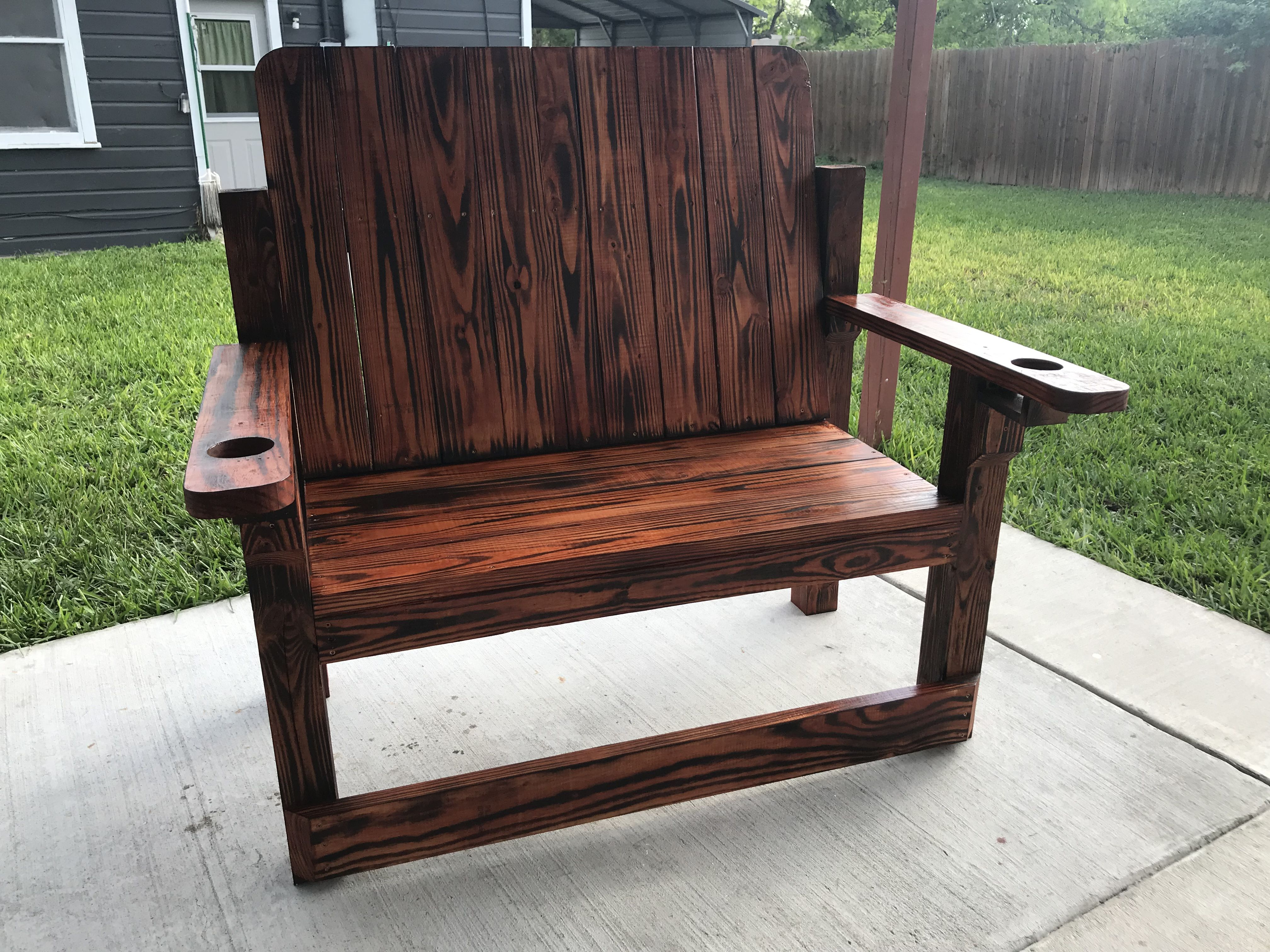 Outdoor Oversized Wooden Bench Wooden Bench Wooden Chair