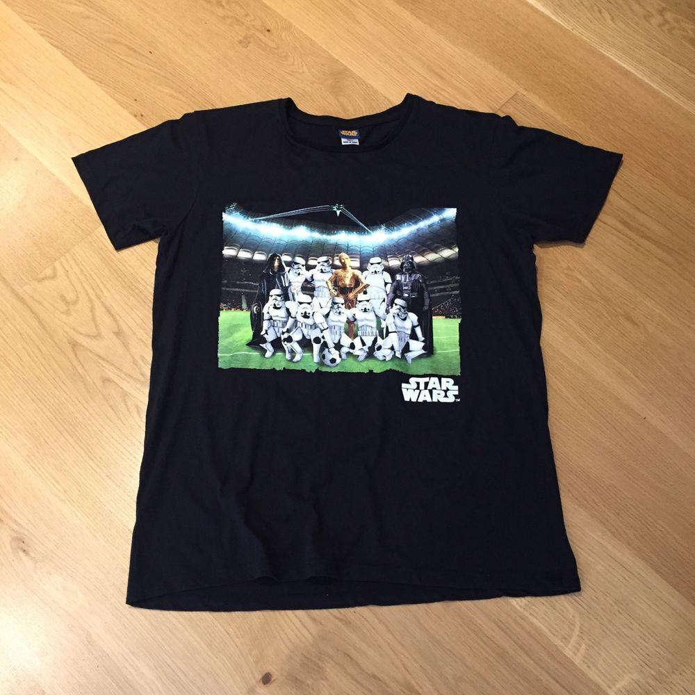 Star Wars Soccer Football Team Photo Stormtrooper Graphic T-Shirt Black  Large