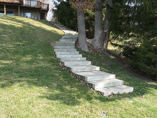 Best 6X6 Timber Steps 4 Wide Front Yard Garden Stepping 400 x 300