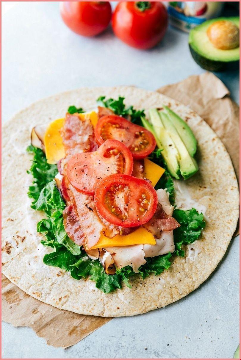 The BEST Turkey Avocado Ranch & Bacon CLUB WRAPS Easy healthy delicious - - The BEST Turkey Avocado