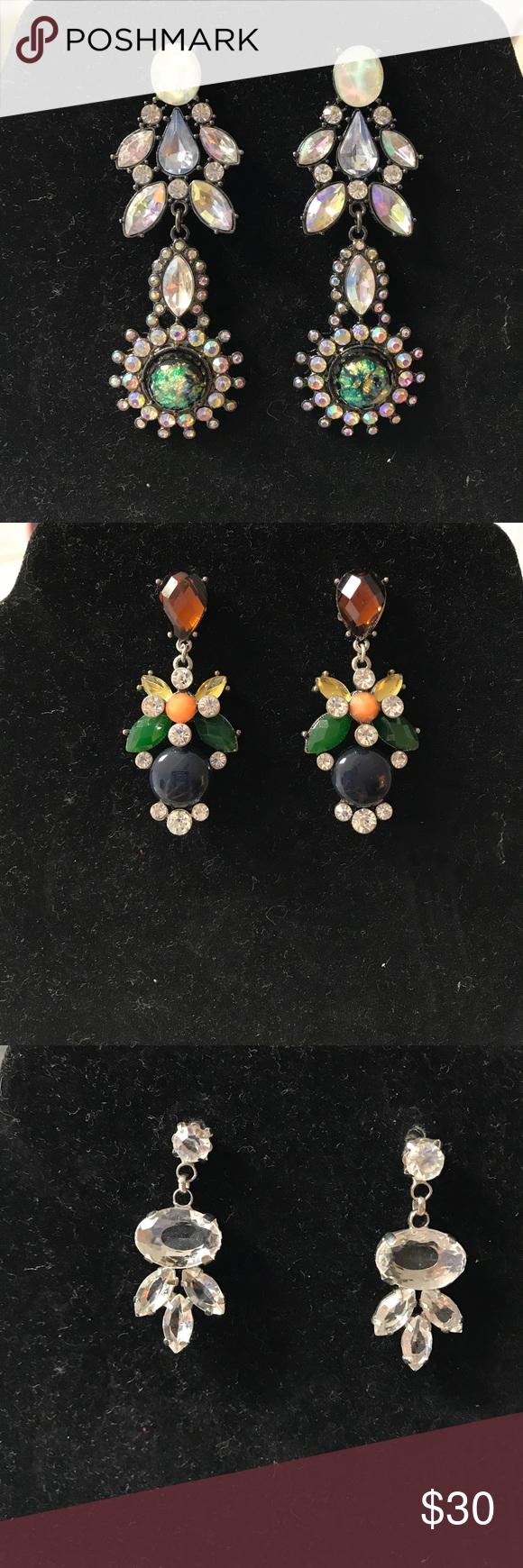 3pair of chandeliers earrings nwot chandelier earrings nordstrom 3pair of chandeliers earrings nwot arubaitofo Choice Image