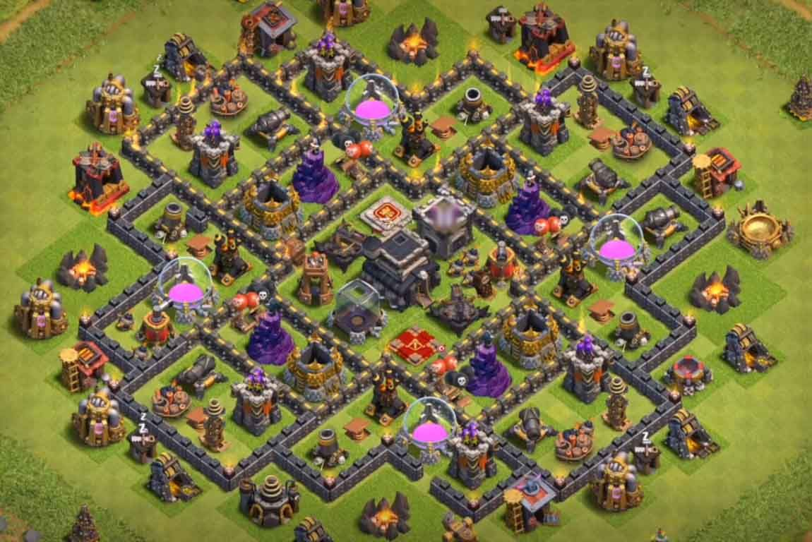 Base Coc Th 9 Defense 7