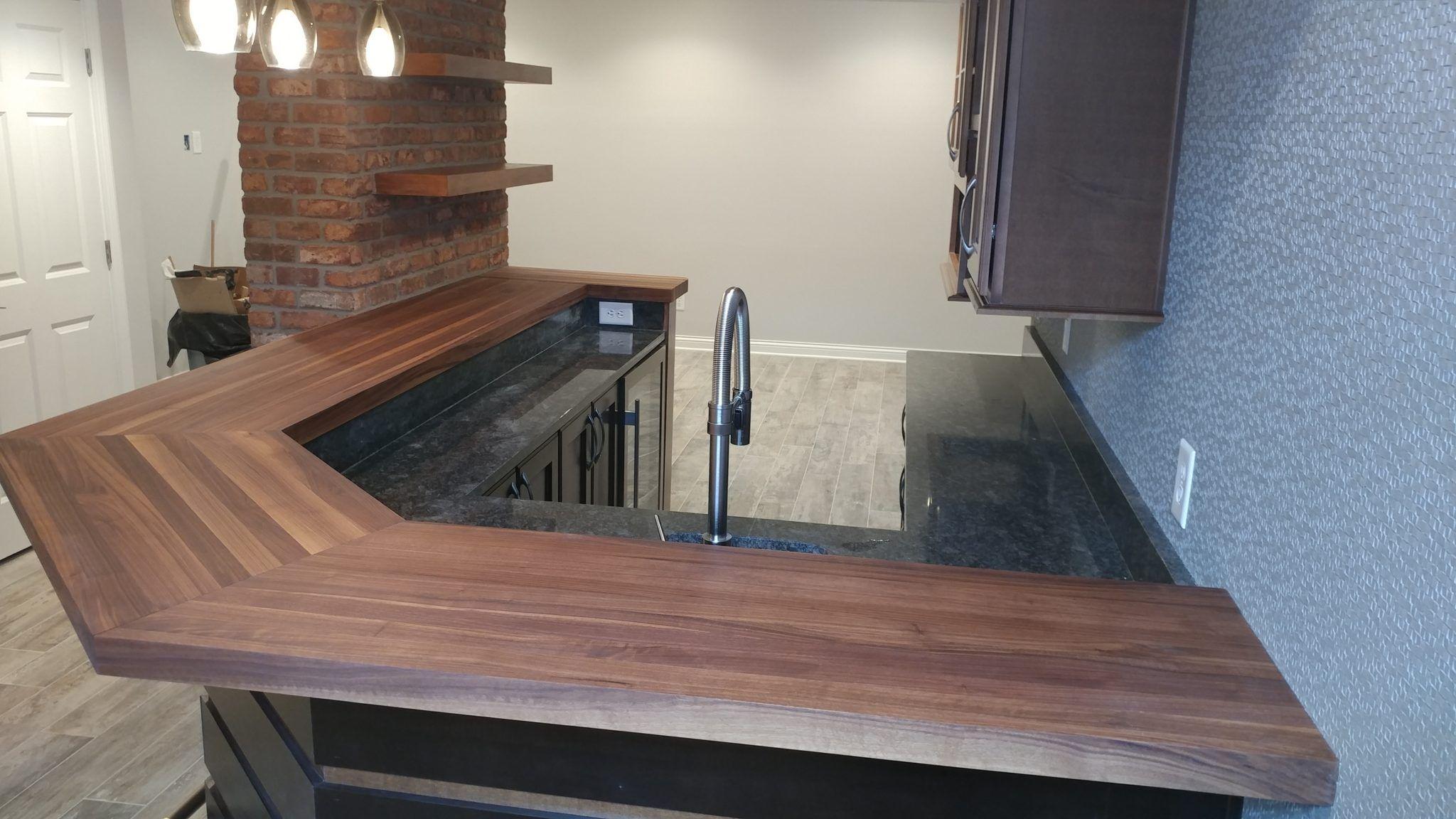 Gallery Walnut Wood Butcher Block Countertops Kitchen Remodel