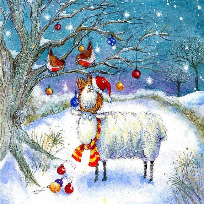 Рисунки зимы для открытки, картинки про работников