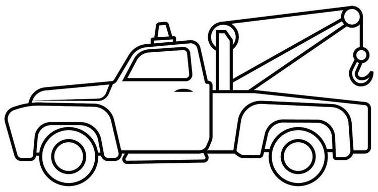 Tow Truck Cartoon Drawing Lineart And Coloring Sheet Tow Truck