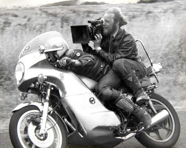 Cinematographer David Eggby filming Mad Max