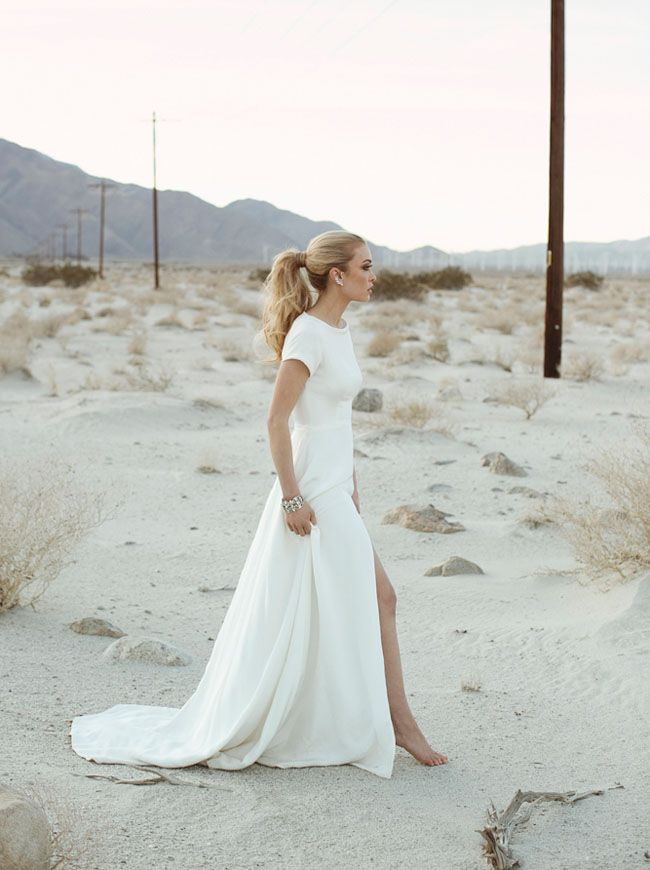 New Collection From Sarah Seven Minimalist Wedding Dresses