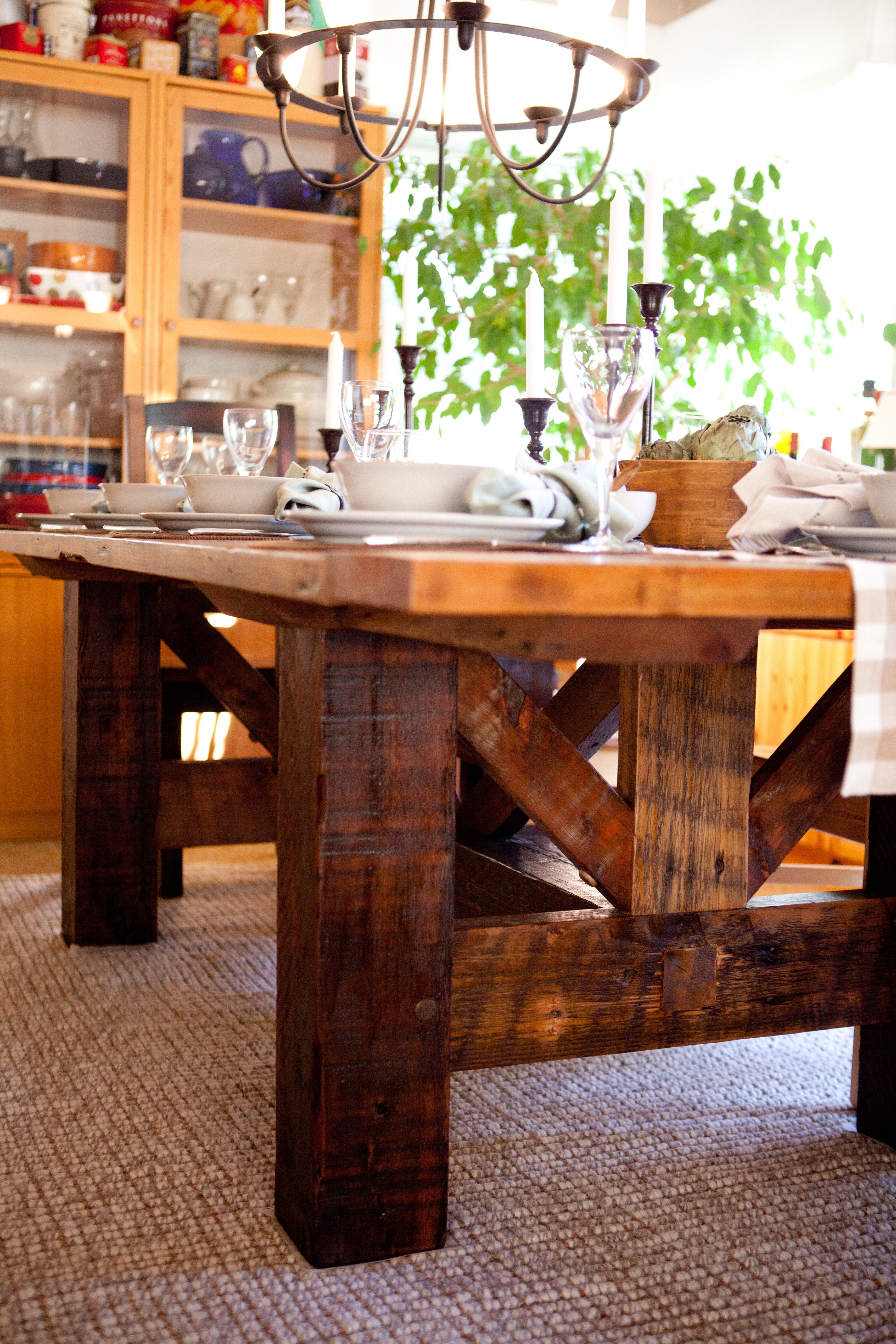Farmhouse Kitchen Table Diy Rustic