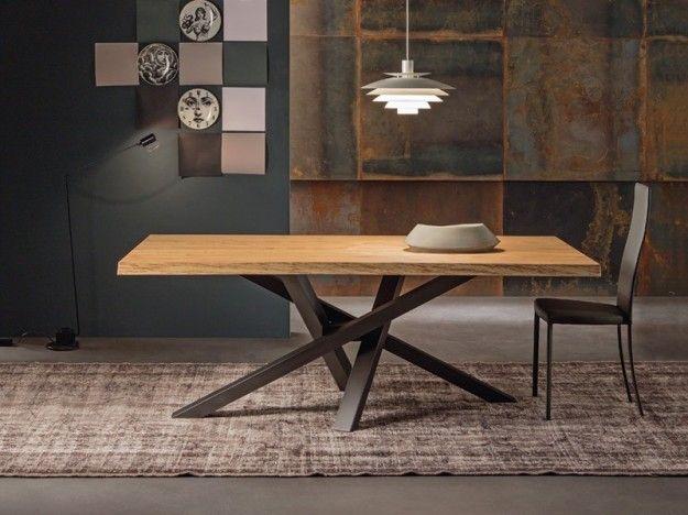 Riflessi tavolo Shangai | Legno grezzo, Legno e Tavolo