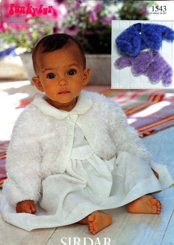 1543 Sirdar Knitting Pattern Baby Child Bolero 16-26\