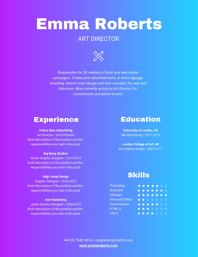 colorful resume what s better than vibrant colors to stand out