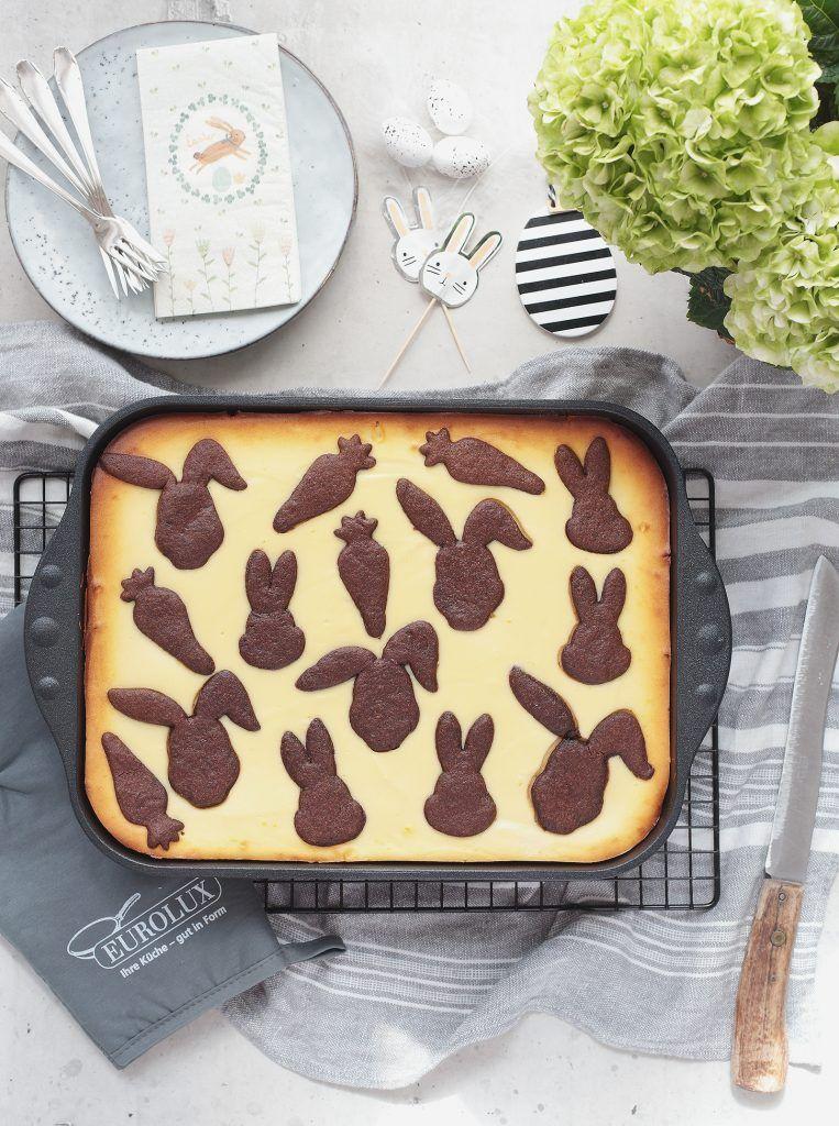 Hasen-Zupfkuchen mit Kirschen für Ostern - Puppenzimmer.com