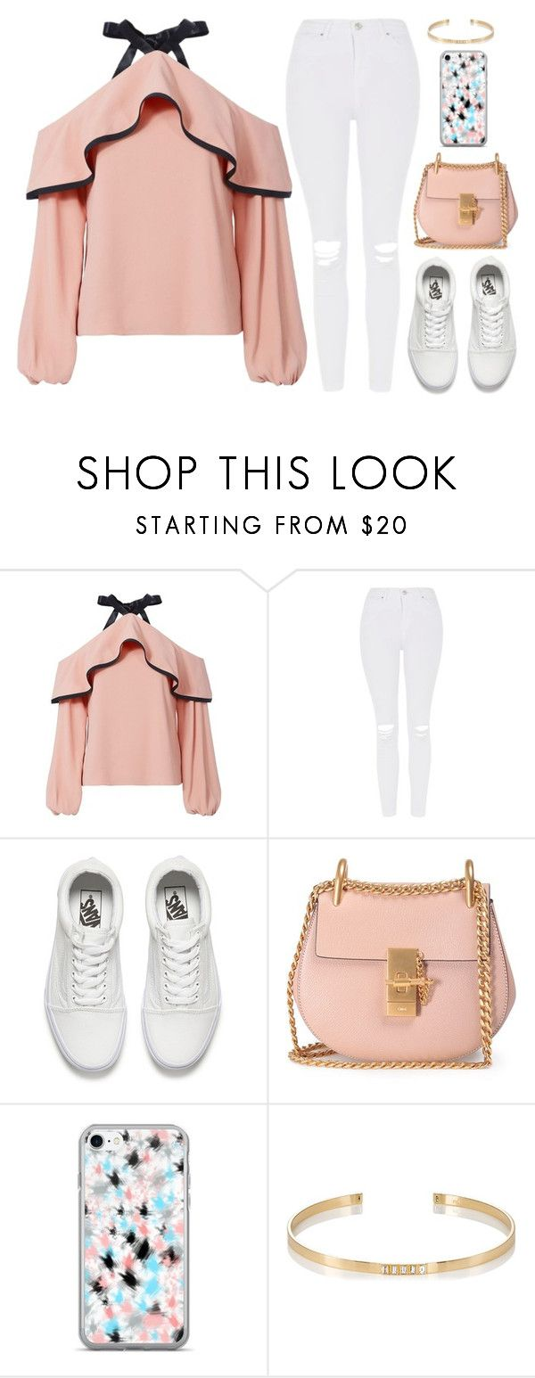 """Take a hint"" by tigerlily789 ❤ liked on Polyvore featuring Alexis, Topshop, Vans, Chloé and Ileana Makri"