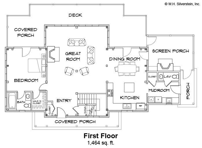 Vineyard View Timber Frame First Floor Plan Floor Plans Timber Frame Homes Timber Frame