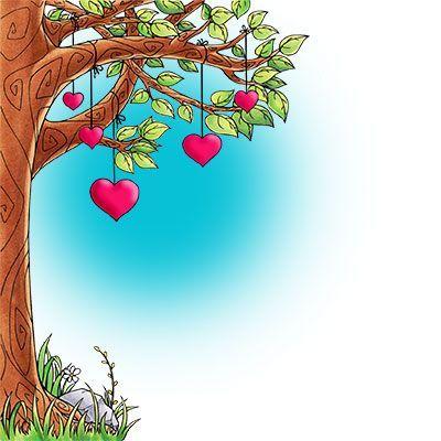 Growing Love Tree Digi Stamp in Digital images