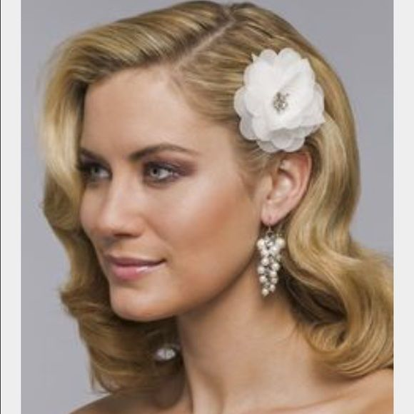 Nina Bridal Flower Hair Clip Ivory Nina Bridal Flower Hair Clip Ivory. New but the plastic bag has been opened. Very pretty with rhinestone detail. Nina Accessories Hair Accessories