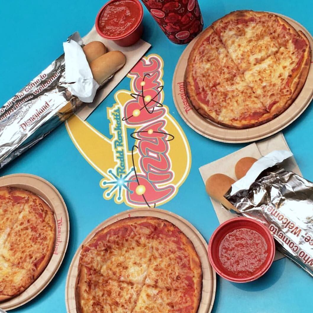 Vegan Disney Food On Instagram Theme Park Disneyland Location Red Rockett S Pizza Port Dish Vegan Friendly Pizza Bre Food Disney Food Pizza Port
