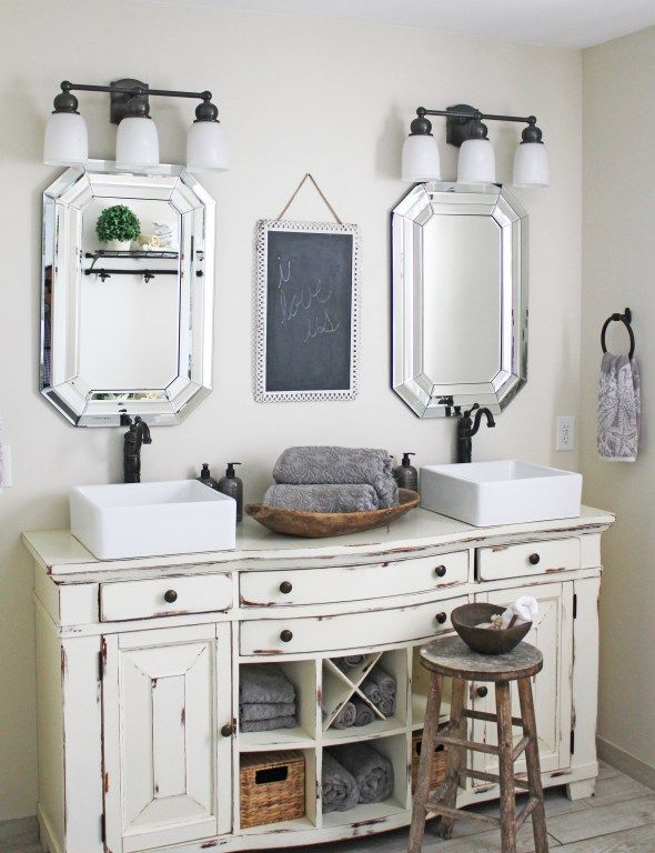 Coastal Farmhouse Meets French Country Diy Bathroom
