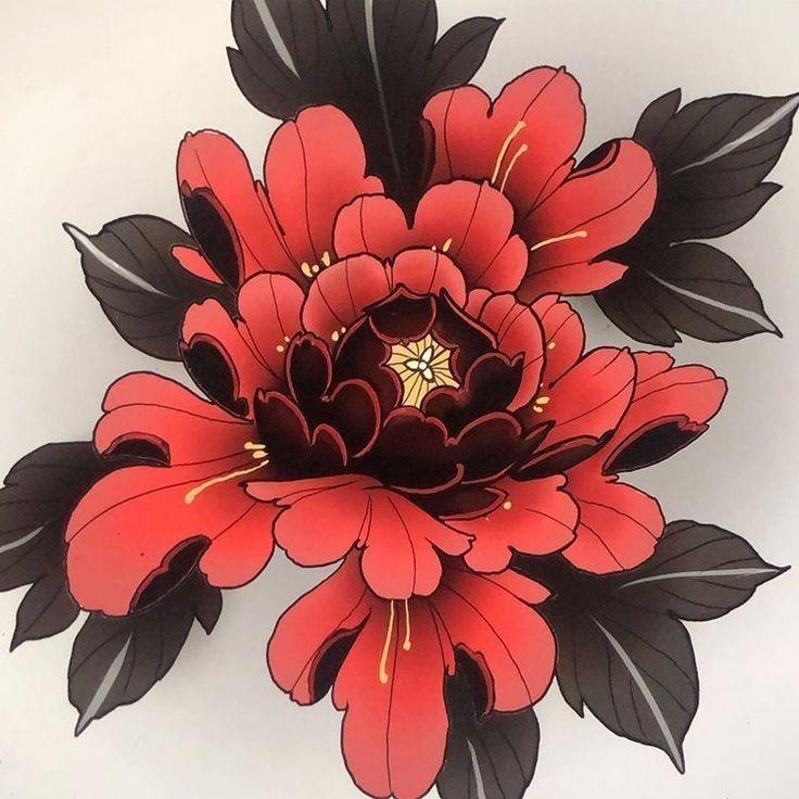 Pin De Orietta Biancofiore En Ideias Flores Japonesas Tatuajes Tatuaje De Peonias Flores Japonesas