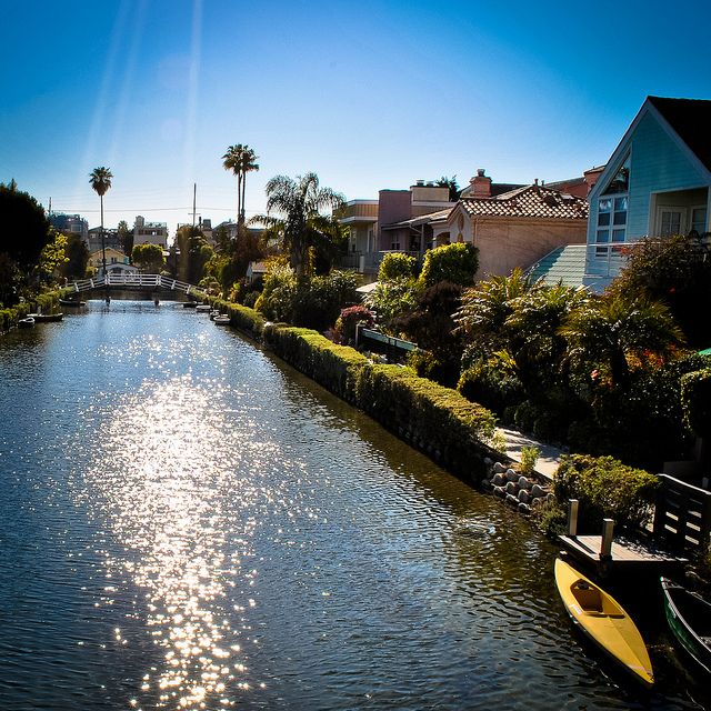 The Venice Canals in Californian- a gorgeous walk lined with beautiful homes.