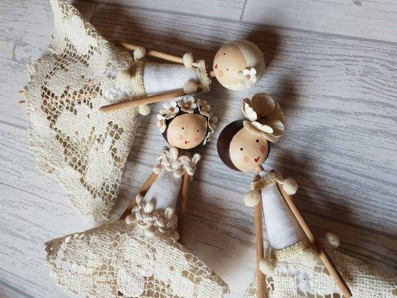 Christmas Fairy / Fairy / Tree Fairy / Fairy Doll / Wooden Doll / Tree Topper / Bride Doll / Angel / #bridedolls