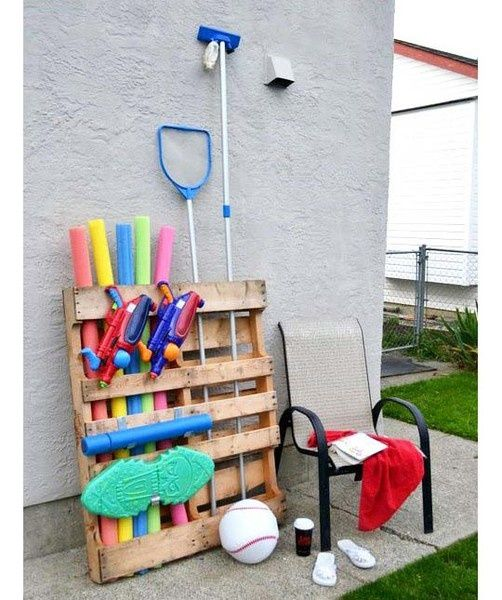 DIY Pallet Projects Could Use For Rakes Shovels Etc In Garage