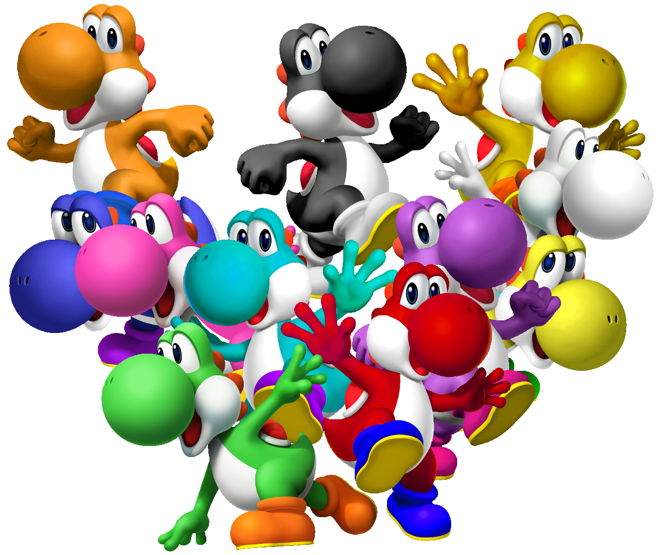 Yoshi species videos pictures and so cute for What color is mario