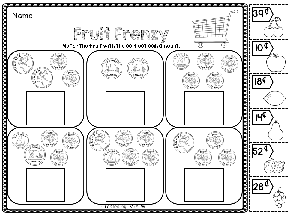 Canadian Money Money Math Money Math Worksheets Money Worksheets