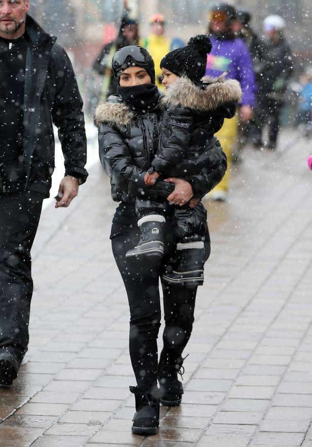 02f2b3520aef3c Kim Kardashian takes North on family ski trip to Colorado.