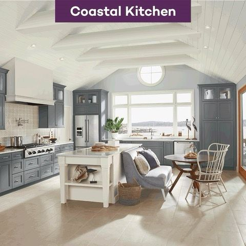 Best Kraftmaid Lagoon Coastal Kitchen Kraftmaid Dream Kitchen 400 x 300