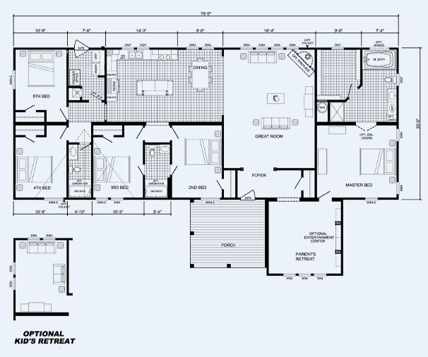 The Fulton 09 A9021ps Cavalier Homes Mobile Home Floor Plans Modular Home Plans House Floor Plans