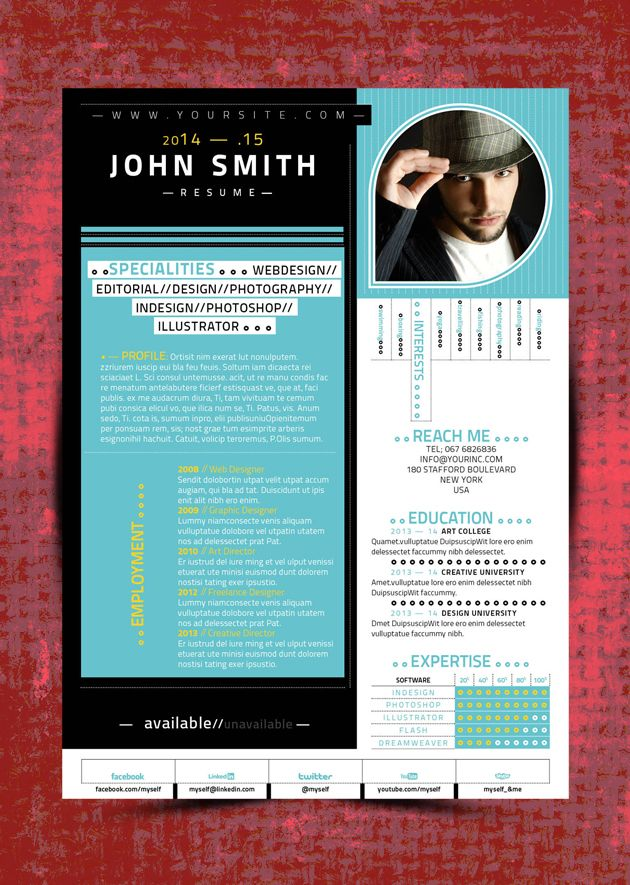 Check Our Latest Indesign Resume Template —Single Page Resume