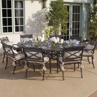 Carlisle Dining In Slate Finish Outdoor Dining Furniture