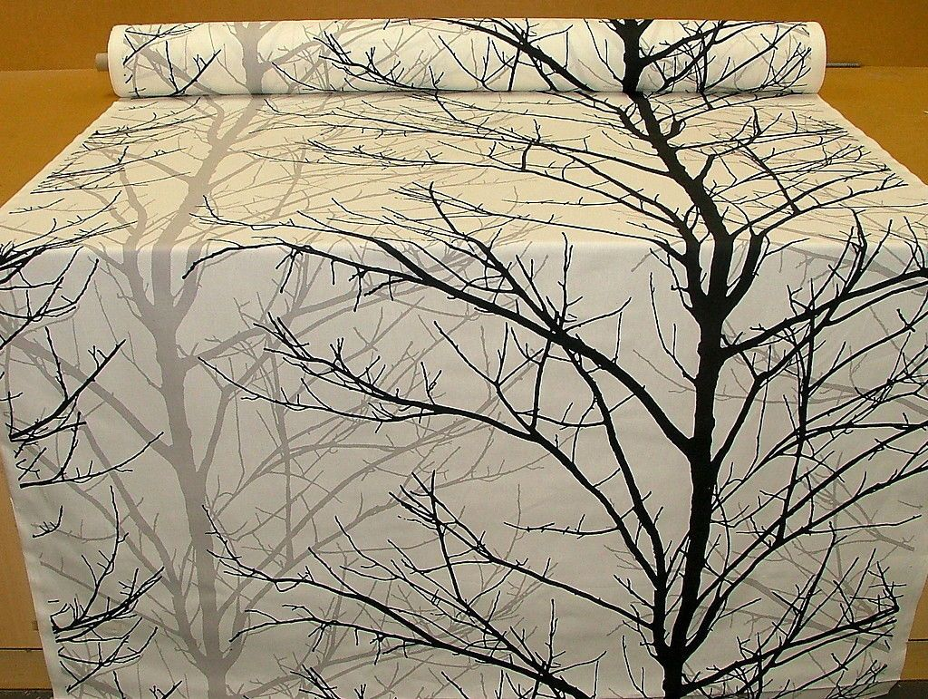 Popular Items For Black Trees On Etsy White Tree Curtain Designs Upholstery Fabric