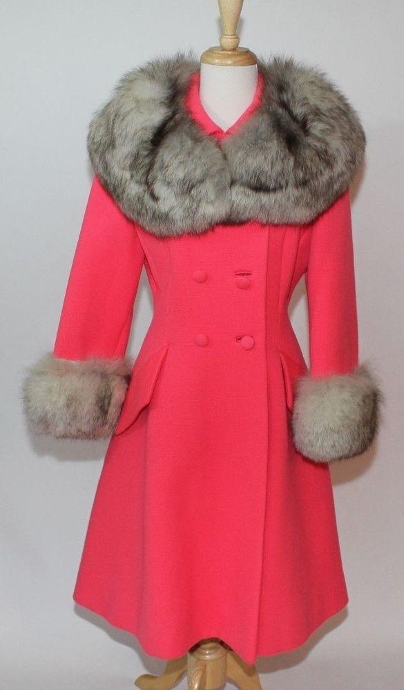 VINTAGE LILLI ANN SAN FRANCISCO FOX FUR TRIM WOOL COAT | Vintage