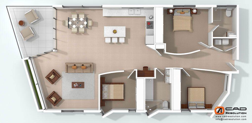 3D Floor Plans | 3D Floor Plans Rendering, 3D Floor Plan Modeling, 3D Floor Plan Design