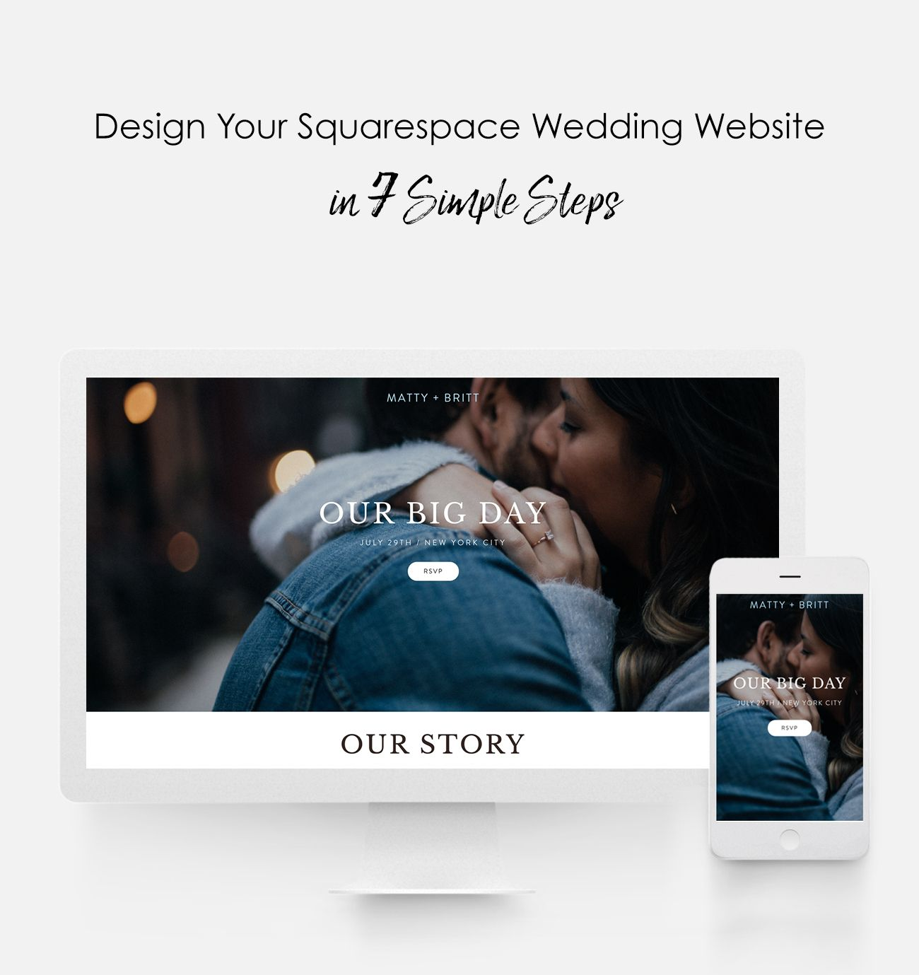 design your squarespace wedding website in 7 simple steps