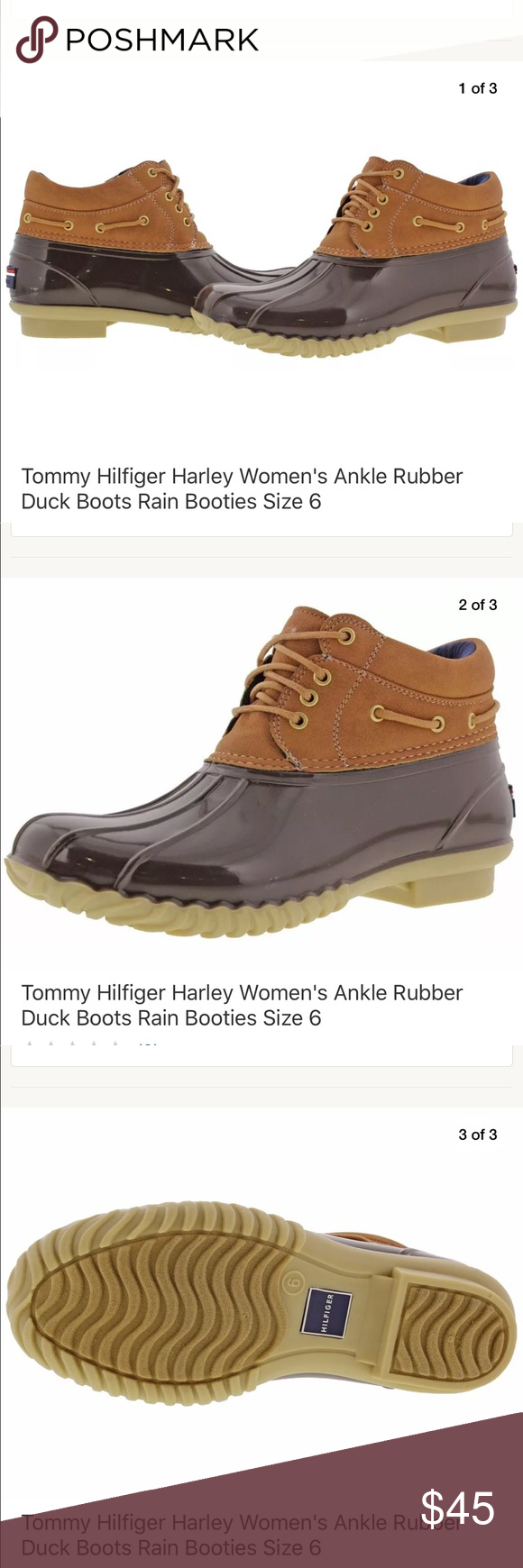500d64bd1 Tommy Hilfiger Harley Ankle Rubber Duck Rain Boots Tommy Hilfiger Harley Women s  Ankle Rubber Duck Boots