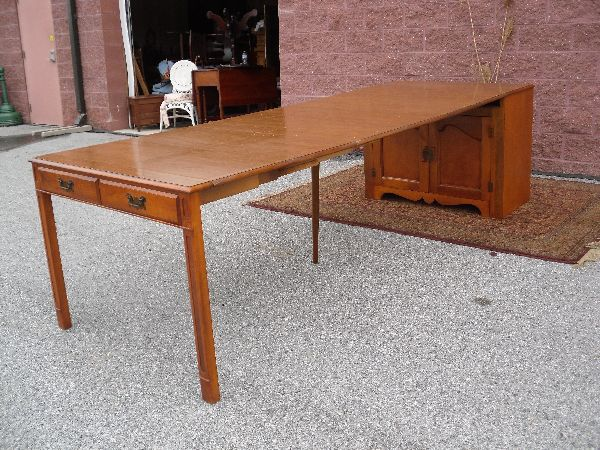 Saginaw Mid Century Server Cabinet With Hidden Pull Out Dining Table 2