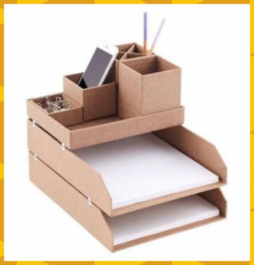 Desk Tidy Ideas Cardboard