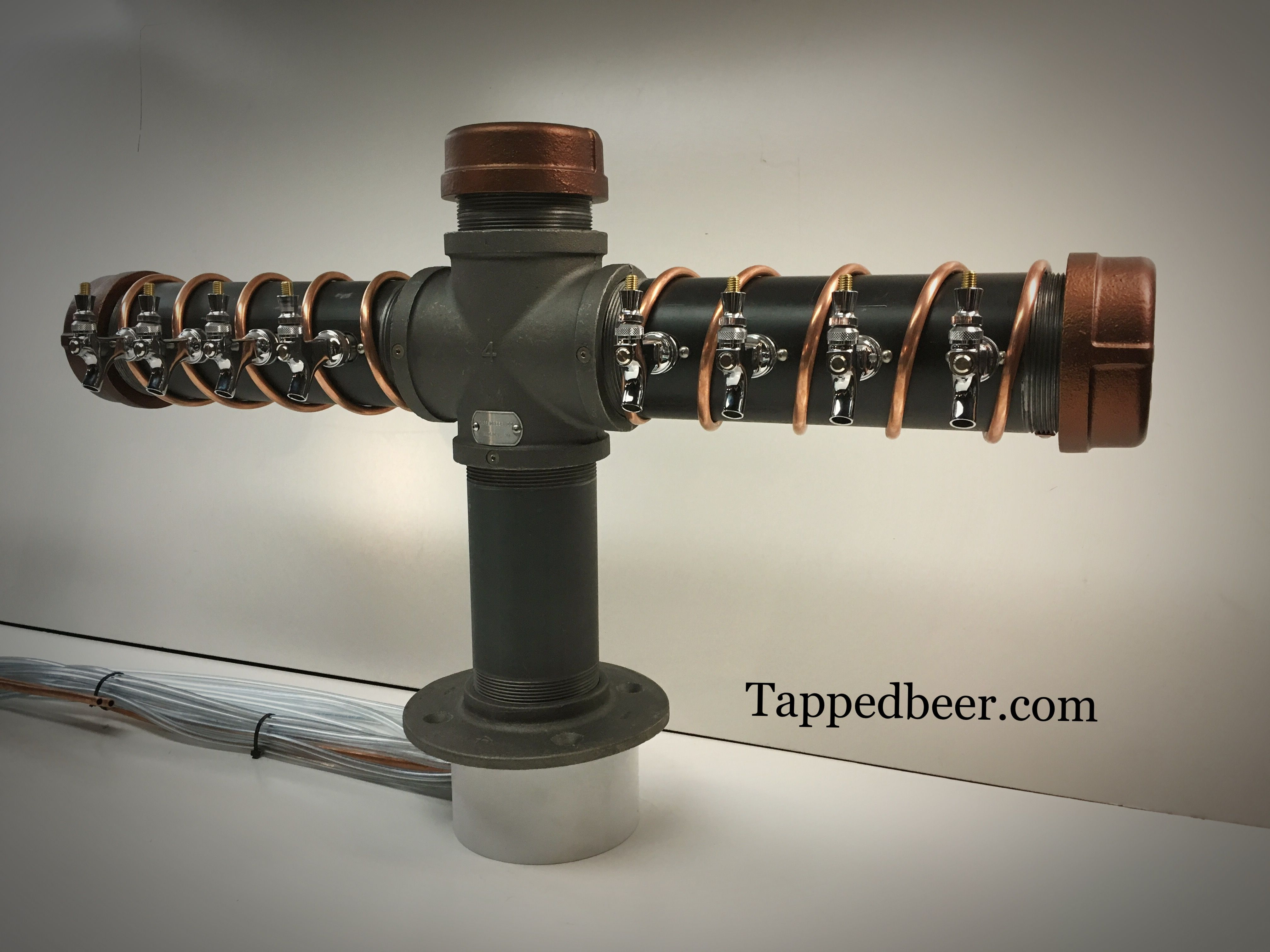 Custom Copper Iron Draft Beer Tower Systems By Tapped Beer Www