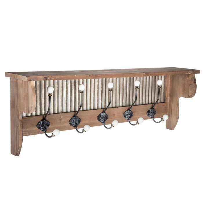 Wood Shelf With Galvanized Metal Back Wood Shelves