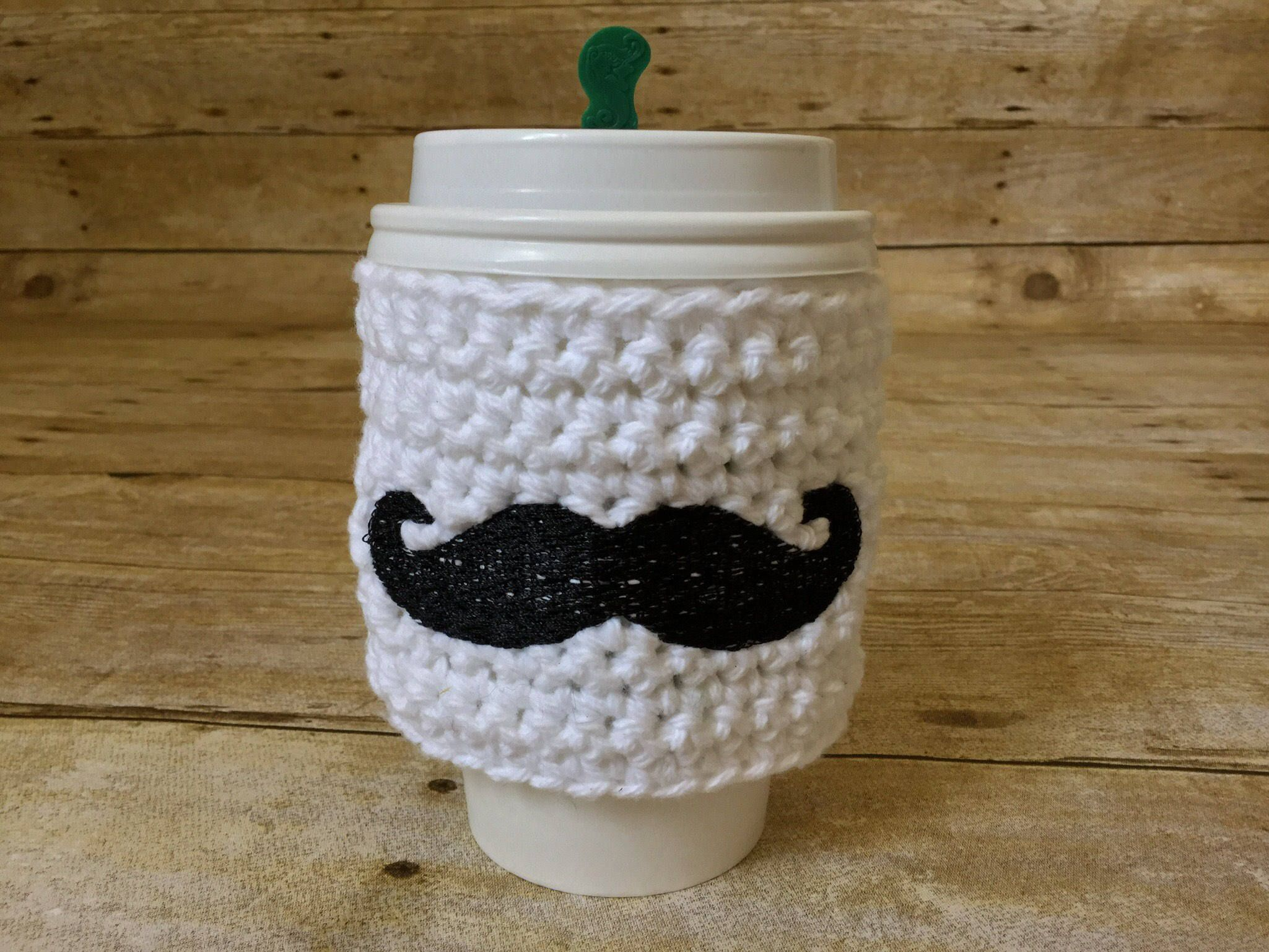 Mustache cup cozy coffee mustache gift cup sleeve accessories mustache cup cozy coffee mustache gift cup sleeve accessories cup coozie bankloansurffo Images