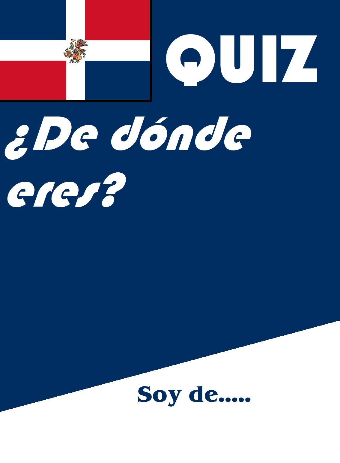 De Donde Eres Spanish Ser Quiz Or Worksheet Distance