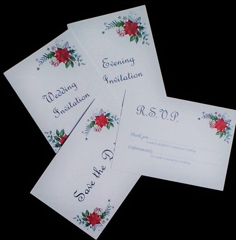 Diy Non Personalised Wedding Invitation Sets Printed