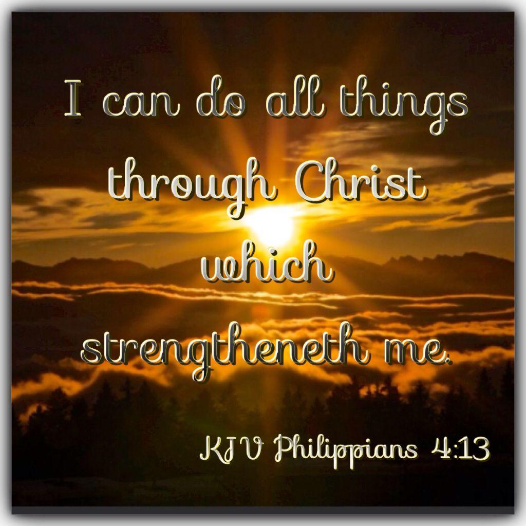 I Can Do All Things Through Christ Wallpaper: KJV Bible Verse - Philippians 4:13