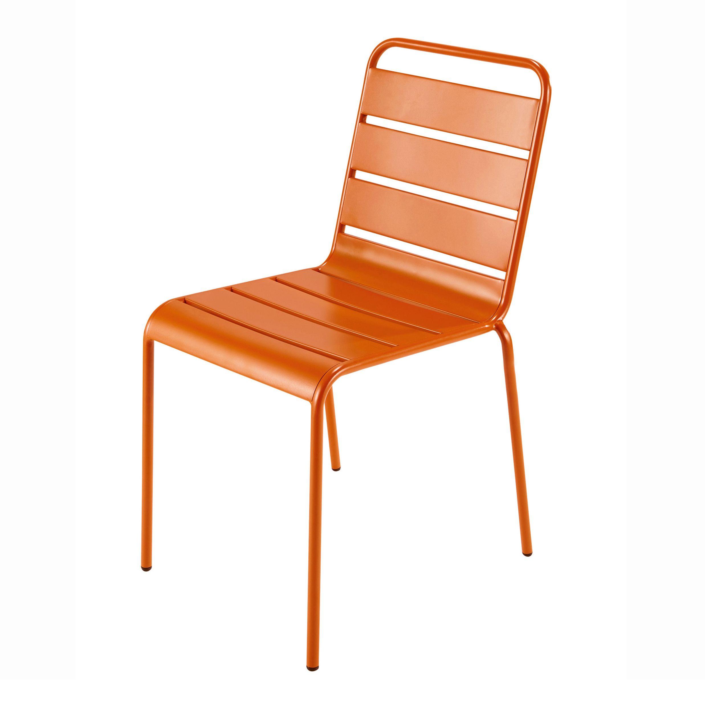 Chaise De Jardin En M Tal Orange Batignolles